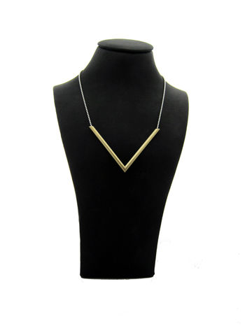 TriANGLE - silver/brass - necklace