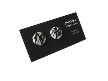 Earrings - white/black